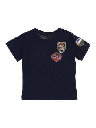 Camiseta-Gola-Careca-Azul