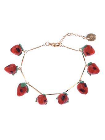 Pulseira-Tropical-Mini-Morangos-Vermelha