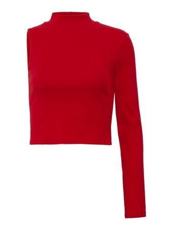 Blusa-1-Ombro-Canelada-Vermelha