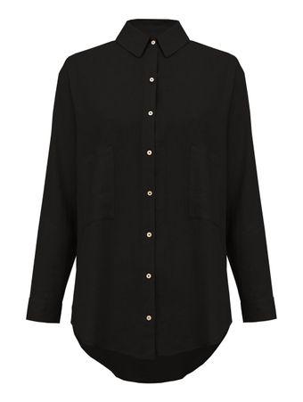 Camisa-Linho-Preta