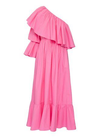 Vestido-Babados-Rosa