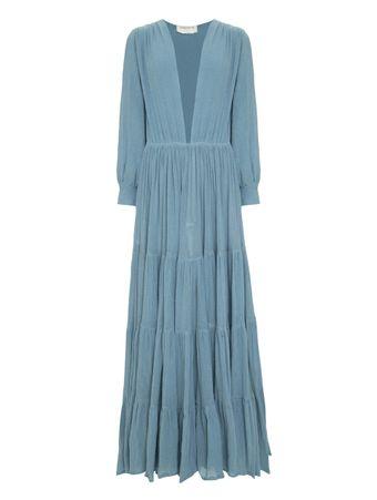 Vestido-Longo-Maria-Felix-Azul