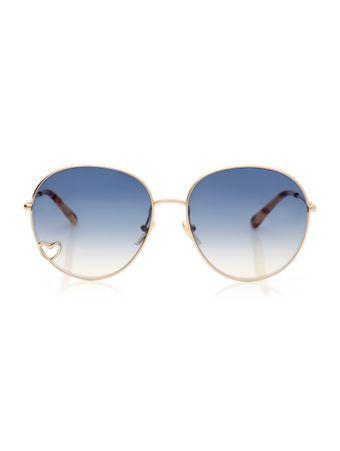 Oculos-de-Sol-Redondo-Dourado