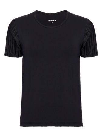 Camiseta-Muguruza-Plissada-Preta