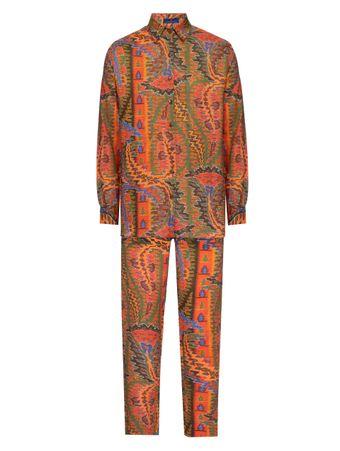 Pijama-Conjunto-Camisa-e-Calca-Turquerie-Estampado