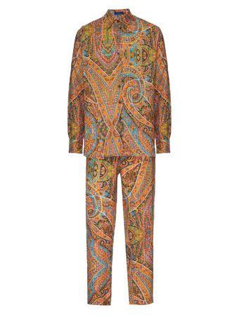 Pijama-Conjunto-Camisa-e-Calca-Paithani-Estampado