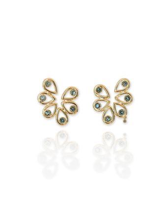 Brinco-Bloom-Ouro-amarelo-18k-Turmalinas-Verdes-e-Diamante