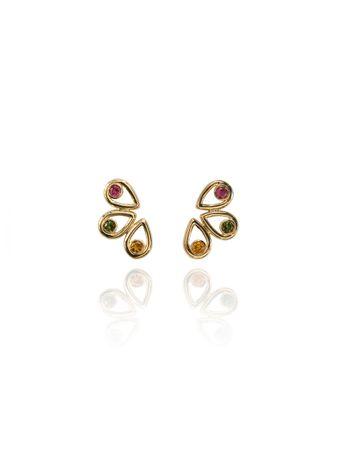 Earcuff-Bloom-Ouro-amarelo-18k-Citrinos-Turmalinas-Rosa-e-Turmalinas-Verde