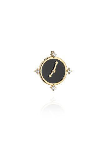 Pingente-Make-Your-Time-Preto-de-Ouro
