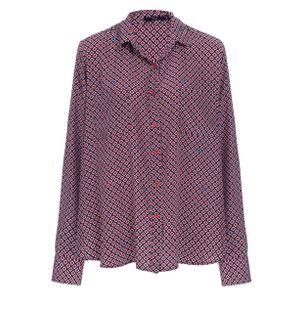 Camisa-Quiepe-de-Seda-Estampada-Vermelho