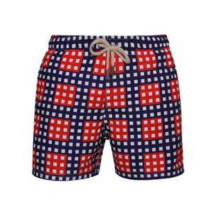 Shorts-Regular-Quadriculado-Vermelho