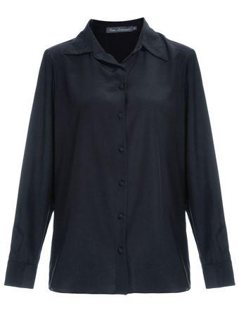 Camisa-Classica-de-Seda-Preto