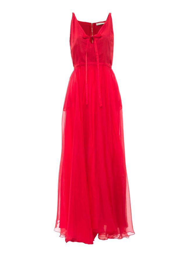 Vestido-Longo-Organza-de-Seda-Vermelho