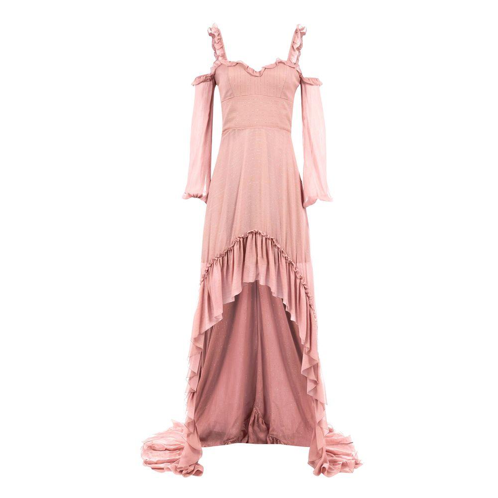 26e0c0d41 Vestido Mullet de Seda Mista Rosa - Shopping Cidade Jardim