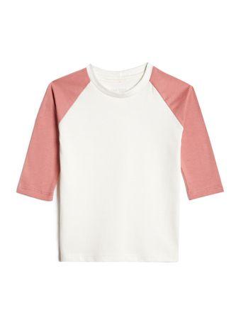 Camiseta-Raglan-Manga-Longa-Rose-Infantil-Malha-Sustentavel