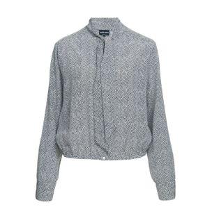 Camisa-de-Seda-Estampada-Preto