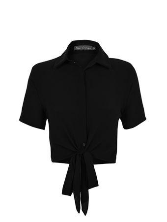 Camisa-Amarracao-de-Seda-Preto