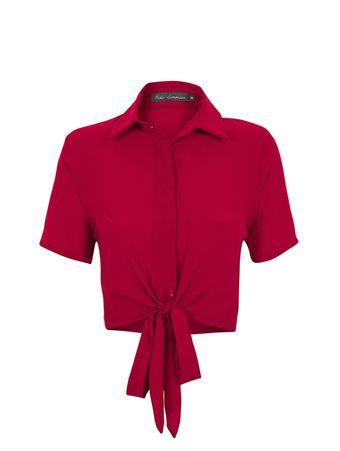 Camisa-Amarracao-de-Seda-Vermelho