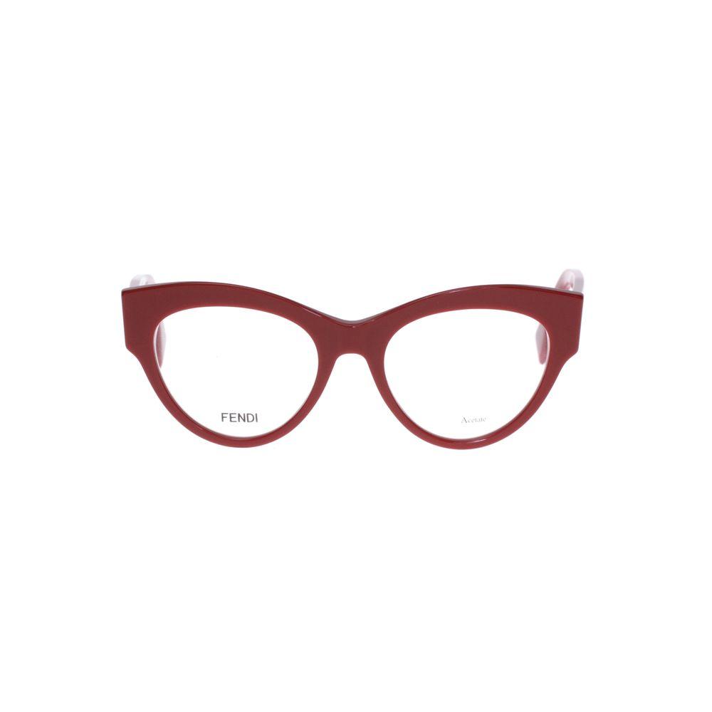 32c66fd056a80 Armação de Óculos Gatinho Fendi 273 Vermelha - Shopping Cidade Jardim