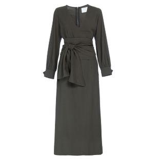 Vestido-Midi-Faixa-Verde
