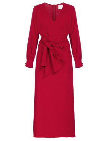 Vestido-Midi-Faixa-Vermelho