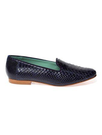 Loafer-de-Couro-de-Piton-Azul