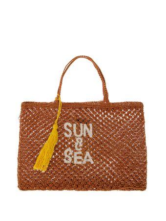 Bolsa-Sacola-Macrame-Sun---Sea-Marrom
