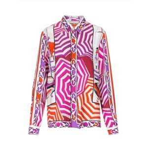 Camisa-Manga-Longa-de-Seda-Estampado-Rosa