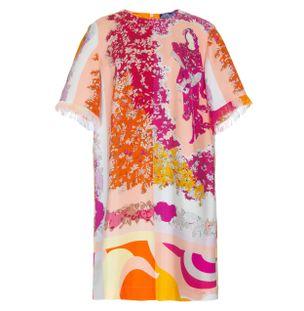 Vestido-Curto-Franja-de-Seda-Floral-Rosa