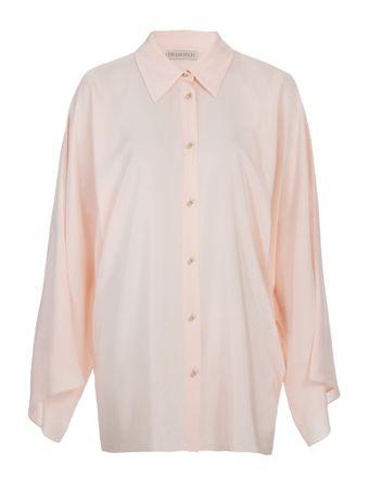 Camisa-Manga-Flare-de-Seda-Rosa