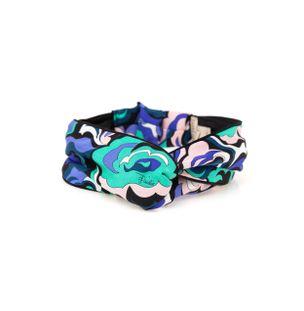 Lenco-Hairband-de-Seda-Estampado-Azul