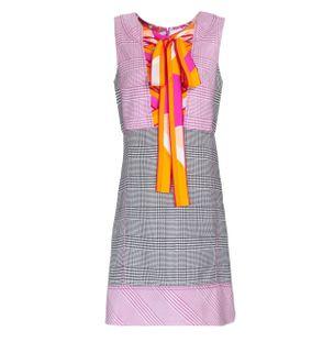 Vestido-Curto-Xadrez-Preto-e-Rosa