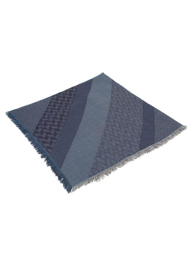 Lenco-Pescoco-de-La-Estampado-Azul-Marinho