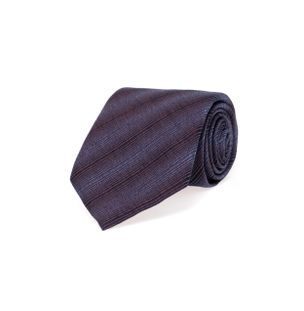 Gravata-de-Seda-Listrada-Azul