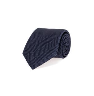 Gravata-de-Seda-Estampada-Azul