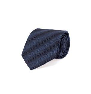 Gravata-Garca-de-Seda-Listrada-Azul