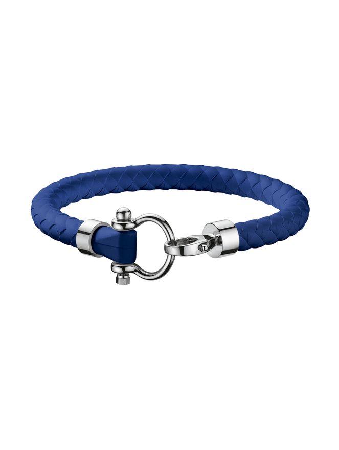 Pulseira-de-Borracha-com-Fecho-em-Aco-Azul-Royal