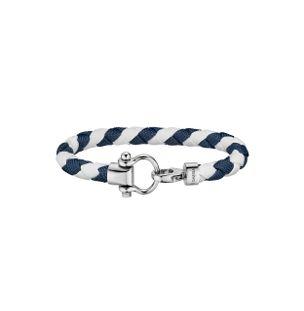 Pulseira-de-Nylon-e-Aco-Branco-e-Azul