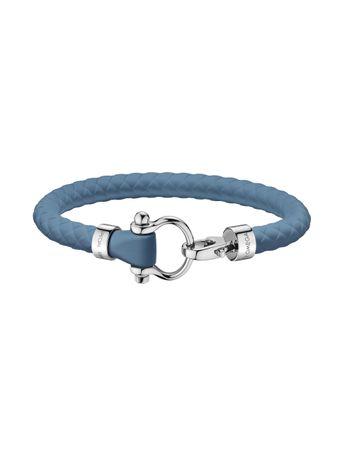 Pulseira-de-Borracha-com-Fecho-em-Aco-Azul