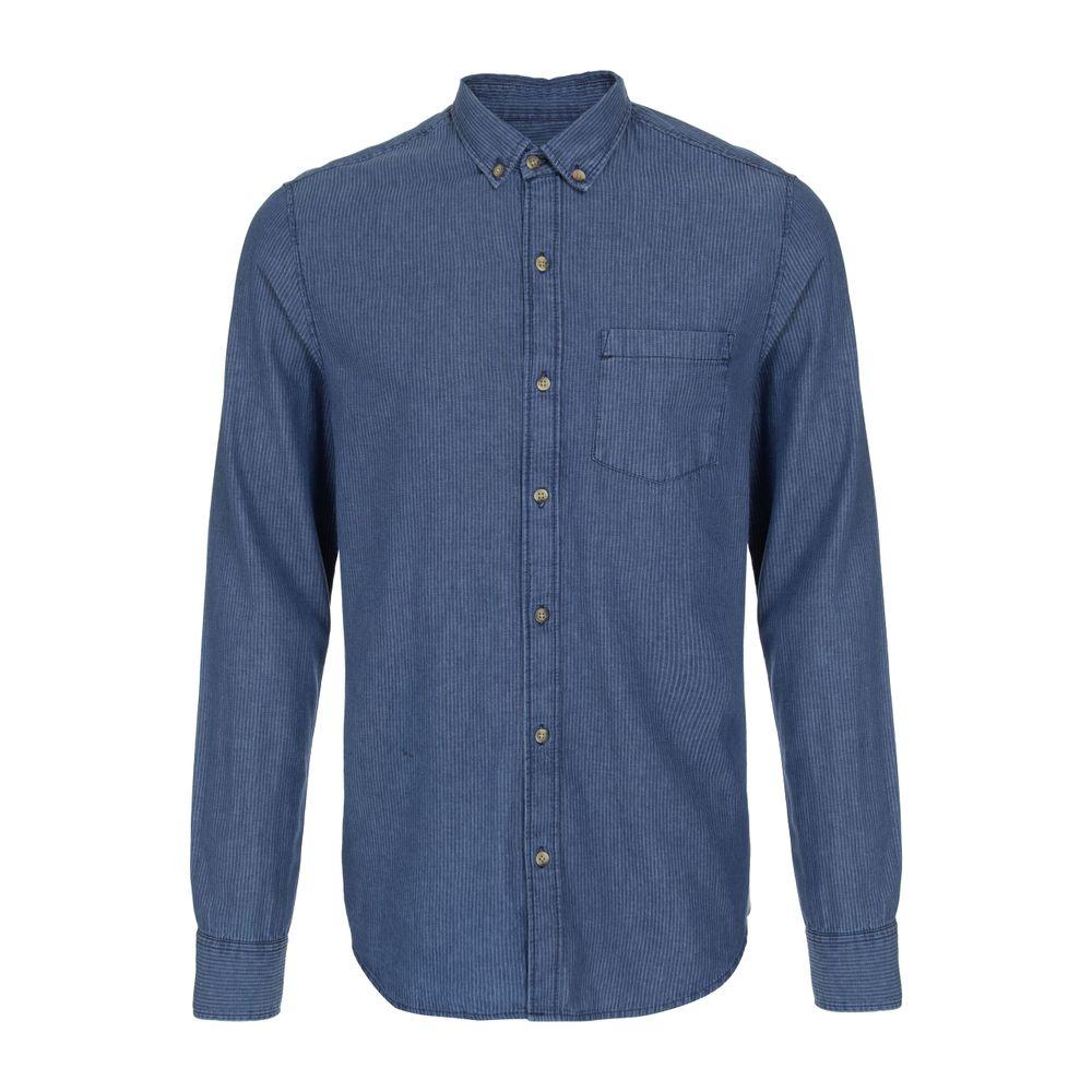 9488cfd6a4 Camisa Jeans de Algodão Listrada Azul Índigo - Shopping Cidade Jardim