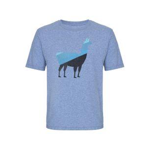 Camiseta-Lhama-Degrade-de-Algodao-Azul