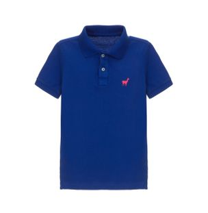 Camisa-Polo-Lhama-Stretch-Boys-de-Algodao-Azul-Royal