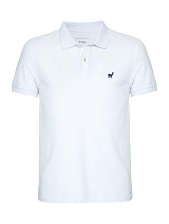 Camisa-Polo-Lhama-Stretch-de-Algodao-Branca