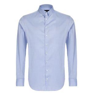 Camisa-Manga-Longa-de-Algodao-Azul