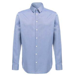 Camisa-Estampada-de-Algodao-Azul-Cobalto
