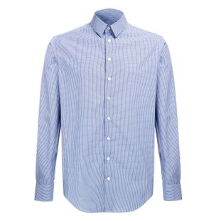 Camisa-Ceruleo-de-Algodao-Xadrez-Azul