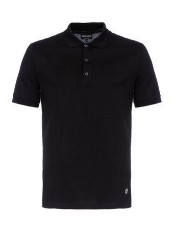 Camisa-Polo-de-Algodao-Azul