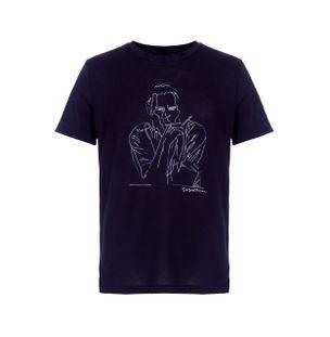 Camiseta-de-Algodao-Azul-Marinho