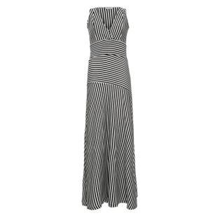Vestido-Longo-Listrado-Preto