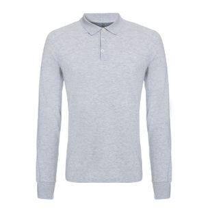 Camisa-Polo-de-Algodao-Cinza